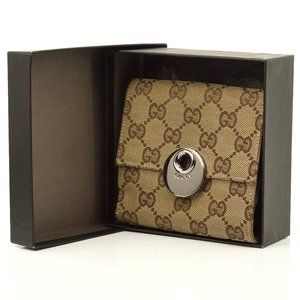 Auth Gucci Gg Pattern Wallet Small #3593G50